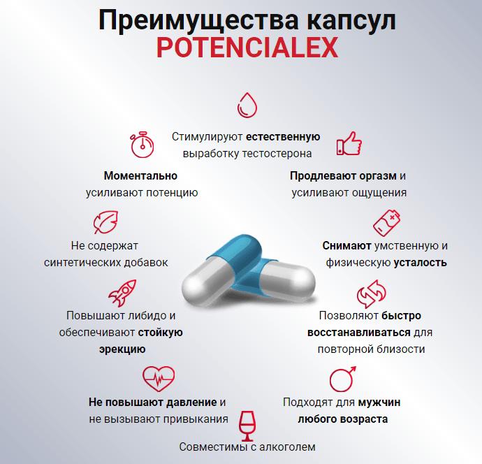 Преимущества препарата Potencialex